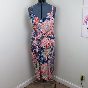 AnnaBelle Flower Boho Tie Front Dress